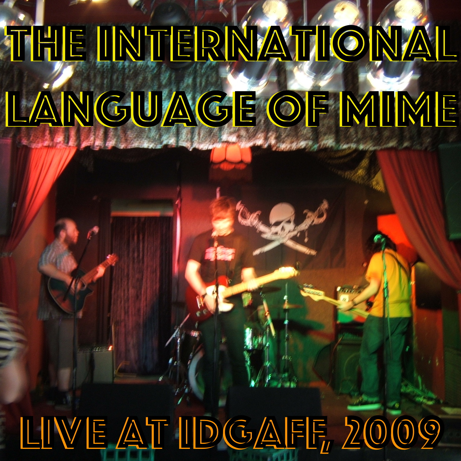 The International Language of Mime live at IDGAFF, 2009. The picture shows the band on stage.